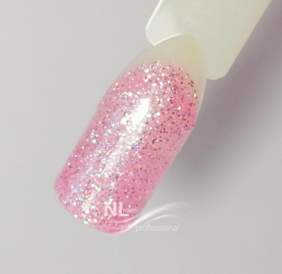 UV, LED barevný gel GLITTER PINK